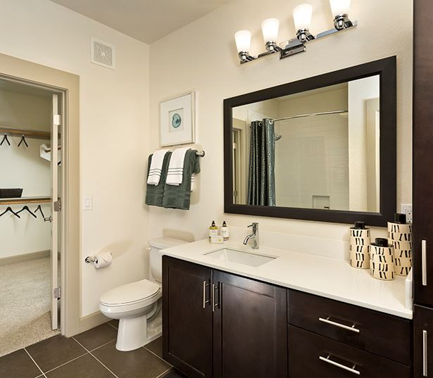 Citrine apartments near Camelback Esplanade - Modern bathrooms with framed mirrors