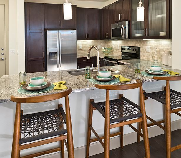 Citrine Apartments in Camelback - Kitchen with granite or quartz countertops