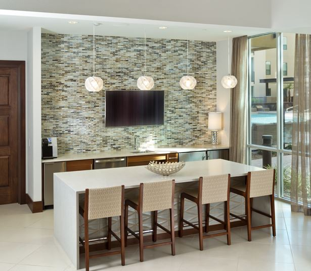 Mayo Clinic Phoenix apartments - Citrine Resident lounge kitchen