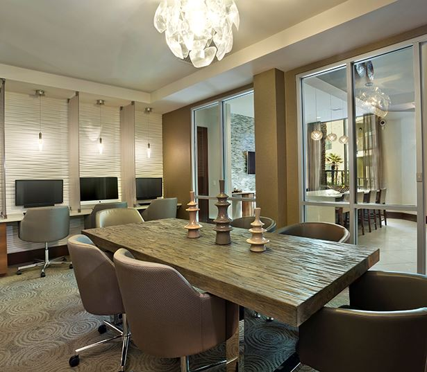 Old Town apartments in Phoenix, AZ - Citrine Executive conference room and business center