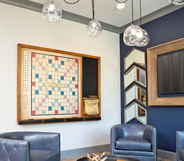 Luxury apartments phoenix - District at Biltmore wall scrabble