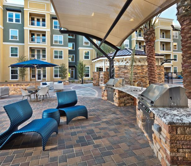 Luxury apartments phoenix - District at Biltmore grills