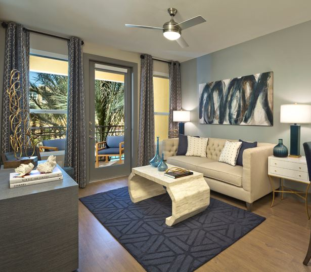 luxury apartments phoenix - District at Biltmore living room