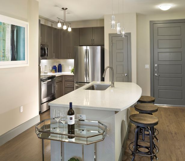 luxury apartments in phoenix - District at Biltmore kitchen islands