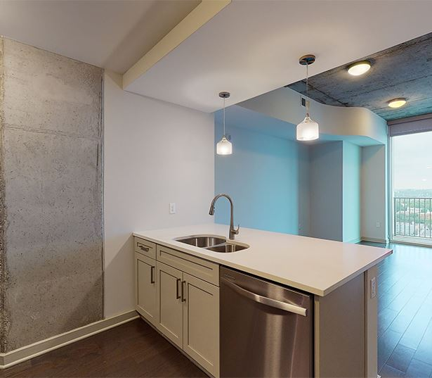 Midtown apartments for rent in Nashville - SkyHouse Nashville 11F2 / 1 Bed / 1 Bath / 678 SF