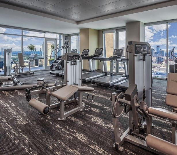SkyHouse Nashville fitness center virtual tour Nashville TN - Music Row Downtown