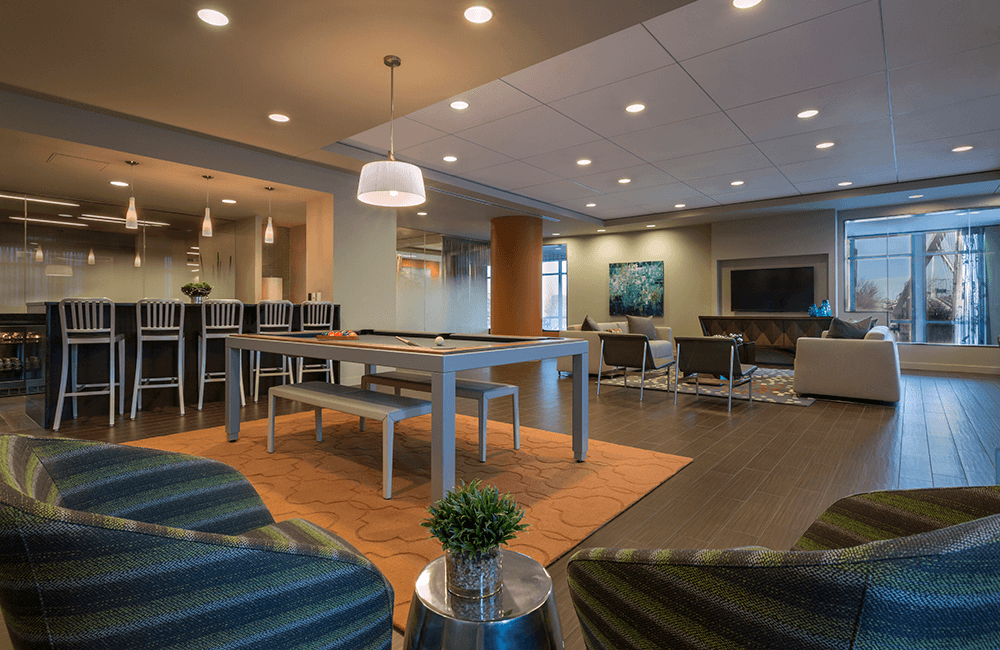 The Victor Resident Lounge at The Victor Apartments – Boston, MA - West End