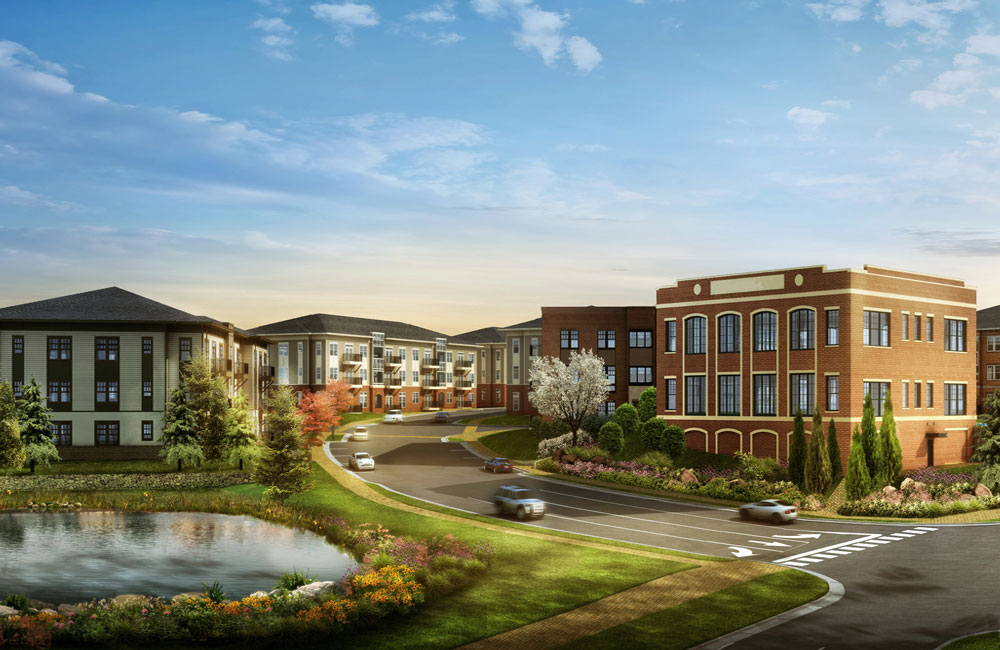 Cadence Cool Springs Panoramic view of the community Franklin TN - Brentwood
