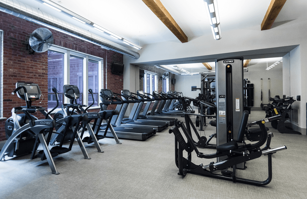 The Boulevard Fully equipped fitness room Denver CO - Golden Triangle