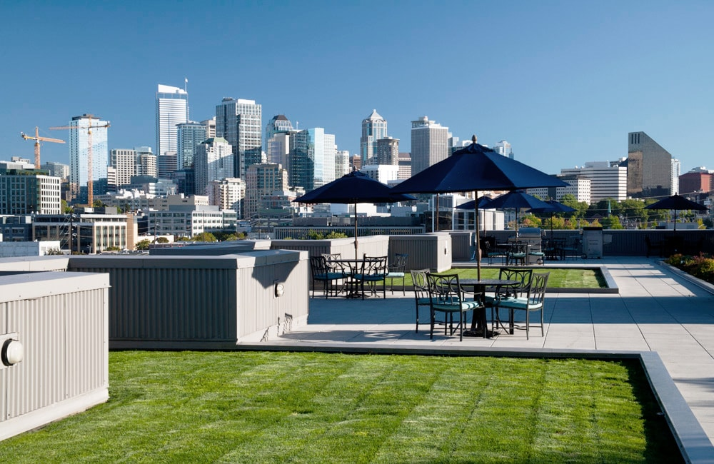 Neptune Rooftop terrace with city views Seattle WA - Amazon