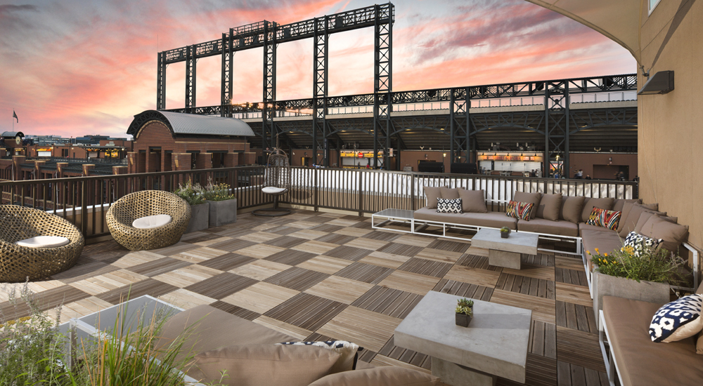 Battery on Blake rooftop view of Coors Field - For Rent in the Ballpark