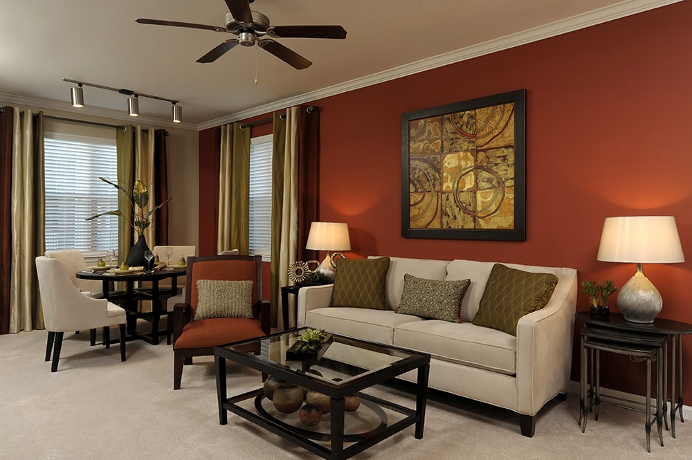 Chancery Village Spacious Living room interior model Cary NC