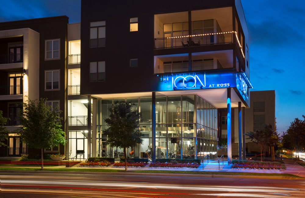 ICON at Ross - exterior building - Apartments in the Dallas Arts District