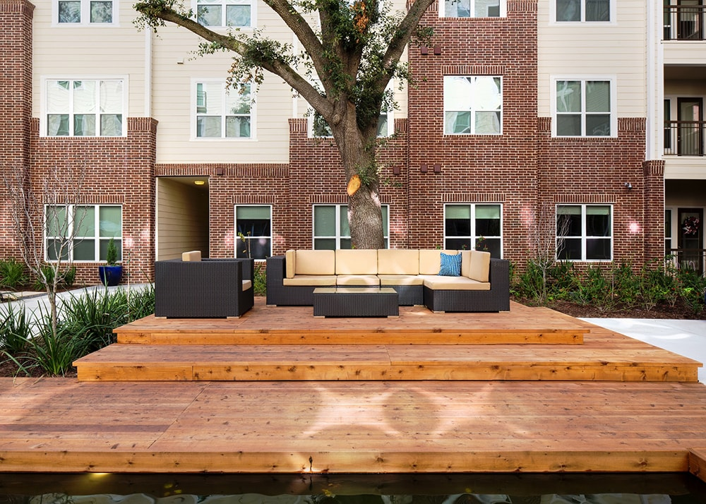 District At Greenbriar Outdoor sun deck Houston TX - Rice Village
