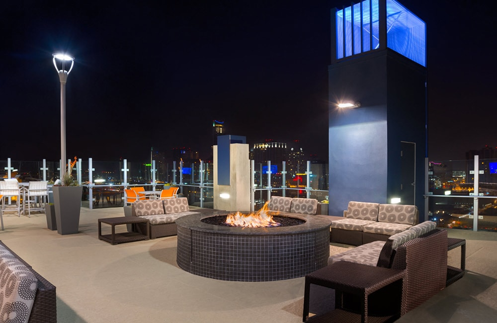 SkyHouse Austin Rooftop Lounge and Fire Pit Austin TX - Rainey Street