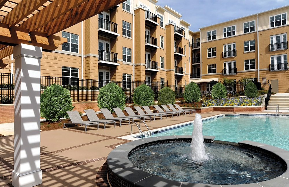 The Reserve at Tysons Corner Pool side fountain Vienna VA - Tysons Corner