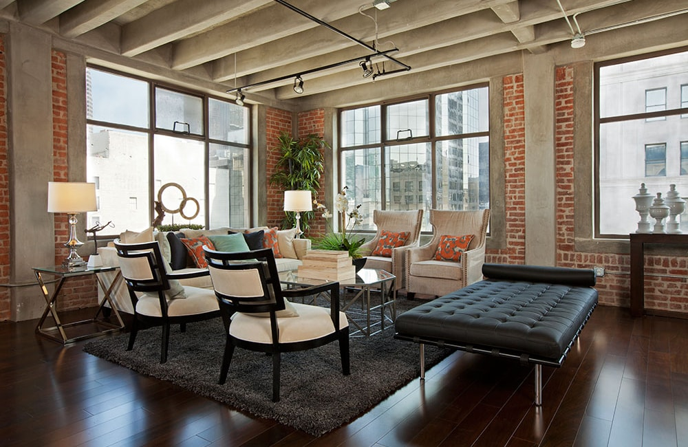 The Brockman Lofts Living Room  Los Angeles CA - LA Live