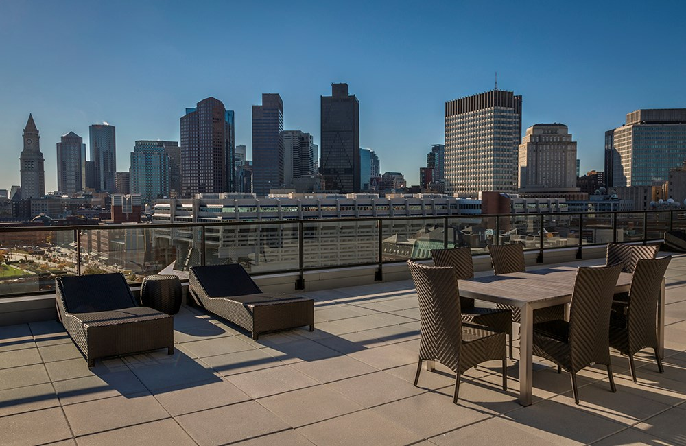 Rooftop Terrace at the Victor in Boston, Massachusetts
